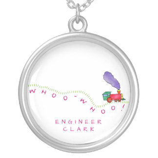Whoo Whoo! Train Silver Plated Necklace