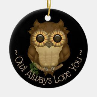 Whoolio The Cute Owl Ceramic Ornament