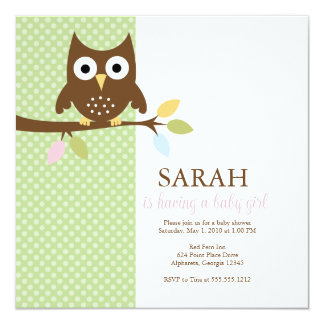 {whooo is having a baby?} card