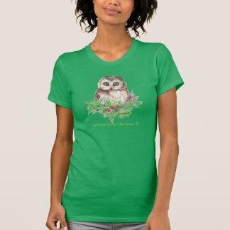 Whoooo loves Christmas !?! Cute Owl Bird Humour T-shirts