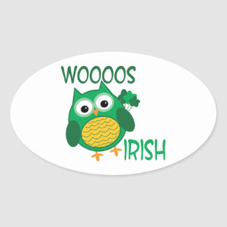 Whooos Irish Oval Sticker
