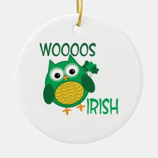Whooos Irish Round Ceramic Decoration