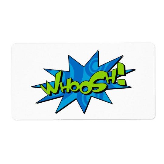 Whoosh Comic Book Sticker Label