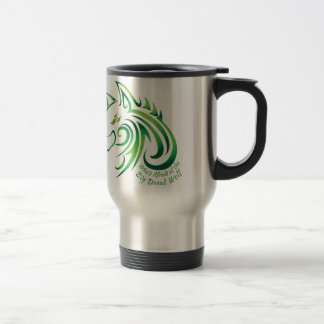 Who's Afraid of the Big Dread Wolf Travel Mug