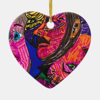 """""""Who's That?"""" Heart Ornament"""