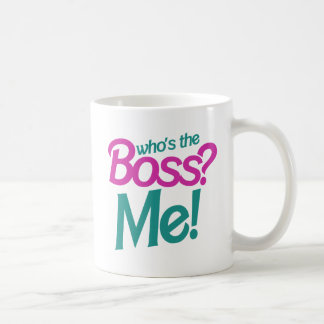 Who's the BOSS? Me! Basic White Mug