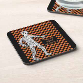 Who's Your Mummy Halloween Drink Coaster