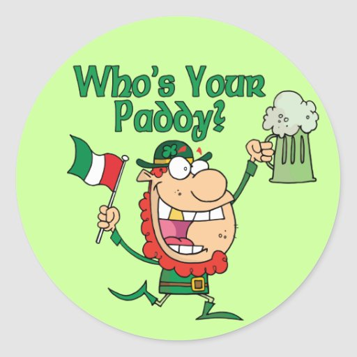 Who's Your Paddy Stickers