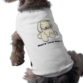 """Who's your puppy"" pet cloth Sleeveless Dog Shirt"