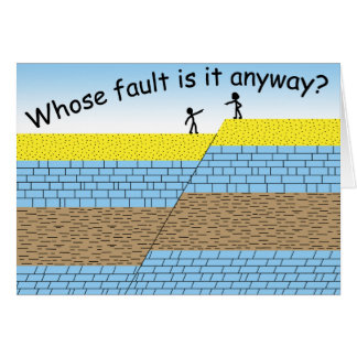 Whose fault? greeting card