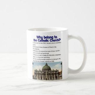 Why belong to the Catholic Church? Basic White Mug