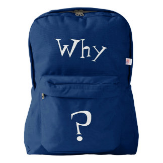 Why Big Question Mark Design Backpack