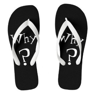 Why Big Question Mark Design Black and White Thongs