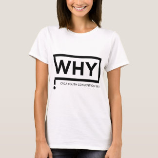 WHY Black Logo Convention Perth 2016 T-Shirt