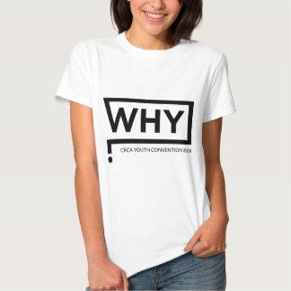 WHY Black Logo Convention Perth 2016 Tee Shirts