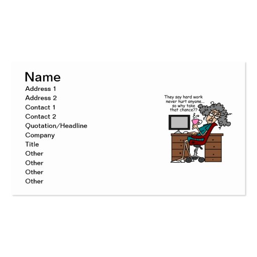 Why Chance Hard Work Humor Business Cards