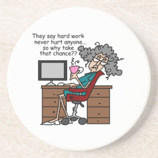 Funny Office Cartoon Coasters Funny Office Cartoon Drink