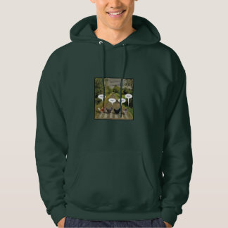 Why did the chickens cross the road? hoodie