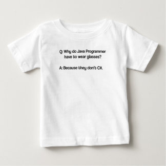 Why do java programmer have to wear glasses baby T-Shirt