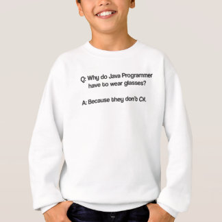 Why do java programmer have to wear glasses sweatshirt