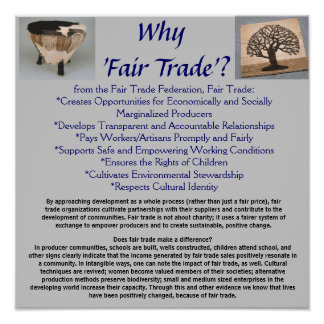 Why Fair Trade? Poster