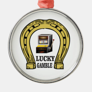 why gamble lucky Silver-Colored round decoration
