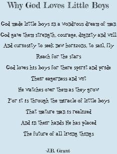 why god loves little boys baby blanket