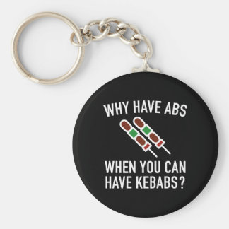 Why Have Abs? Basic Round Button Key Ring