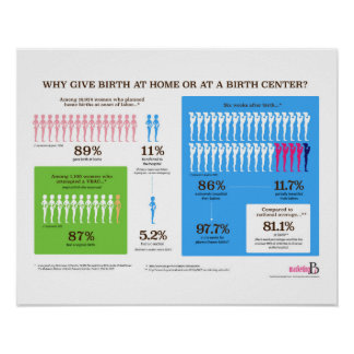 """Why Home Birth Infographic 20"""" x 16"""" Poster"""