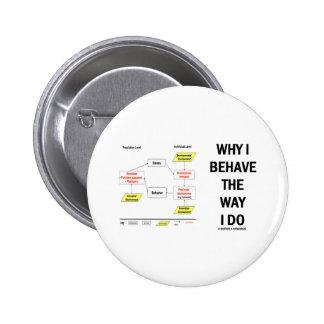 Why I Behave The Way I Do (Sociobiology) Pins