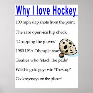 Why I Love Hockey Poster
