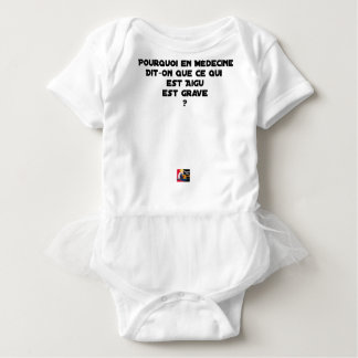 WHY IN MEDICINE HE SAYS THAT WHAT IS ACUTE BABY BODYSUIT