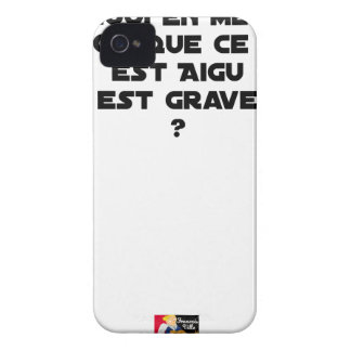 WHY IN MEDICINE HE SAYS THAT WHAT IS ACUTE iPhone 4 CASE