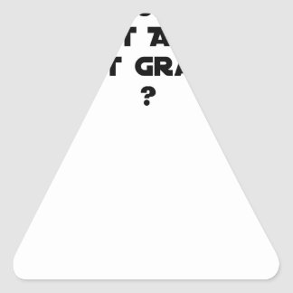 WHY IN MEDICINE HE SAYS THAT WHAT IS ACUTE TRIANGLE STICKER