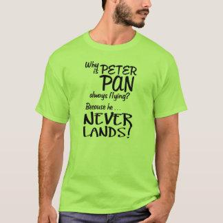 Why is Peter Pan Always Flying? (Black) T-Shirt
