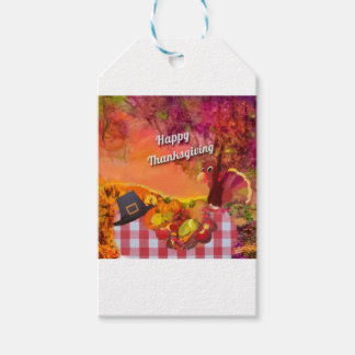 Why is the turkey hiding gift tags