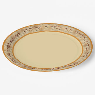 Why Is This Night Different? Seder Paper Plate 9 Inch Paper Plate