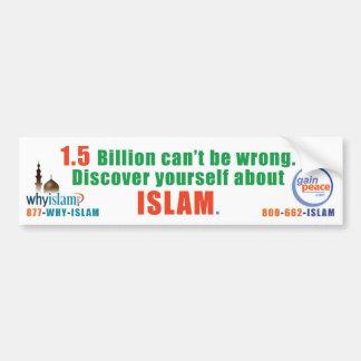 why-islam-bumper car bumper sticker