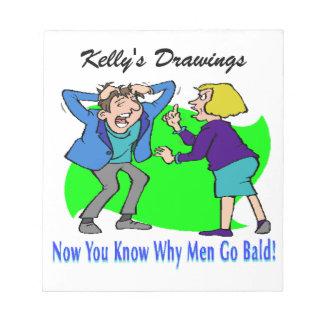 Why Men Go Bald Notepad