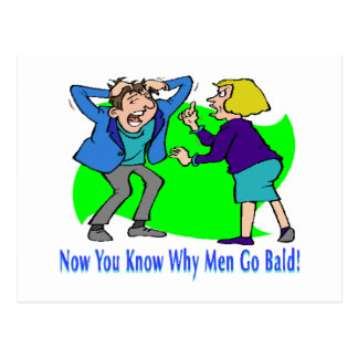 Why Men Go Bald Postcard