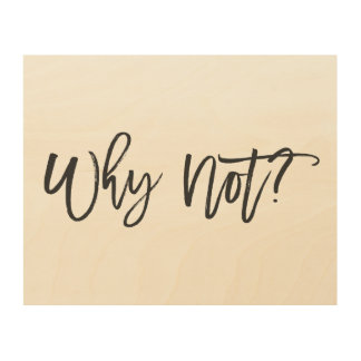 Why Not? Inspirational Quote Wood Wall Art