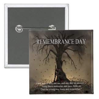 Why Not Me Remembrance Day Button