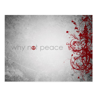 why not peace - english postcard