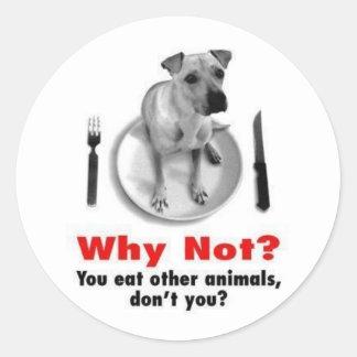 Why Not? (Sticker Version) Round Sticker