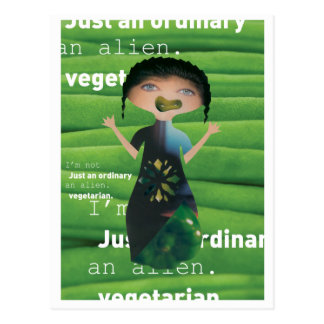 Why not vegetarian postcard