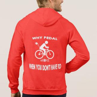 """Why pedal"" custom hoodies for men"