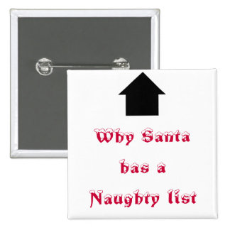 Why Santa has a Naughty list Pinback Button