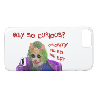 Why so Curious? - Crazy Clown Cat iPhone 8/7 Case