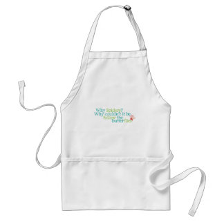 Why Spiders and not butterflies? Apron