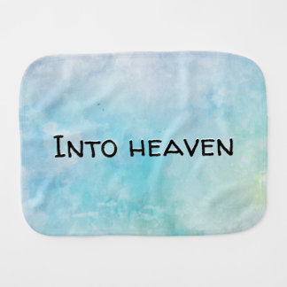 Why stand ye gazing up into heaven burp cloth
